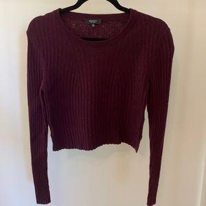 Aritzia Babaton burgundy long sleeve sweater